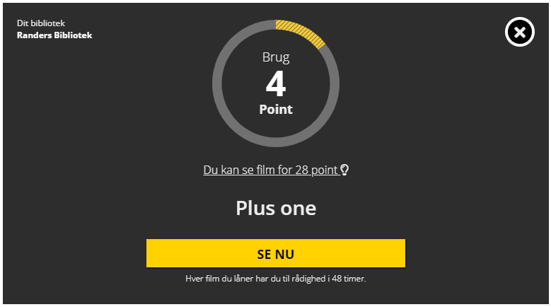 Pointsystem med Filmstriben
