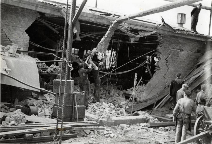 Sabotagen på Scandia - billede udlånt fra Randers Stadsarkiv
